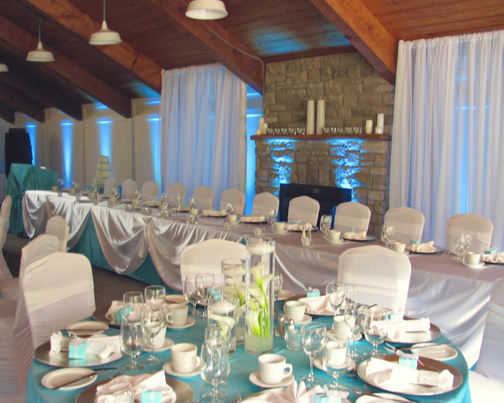 Indoor reception venues Ontario - Wedding Reception in Black Donalds Room
