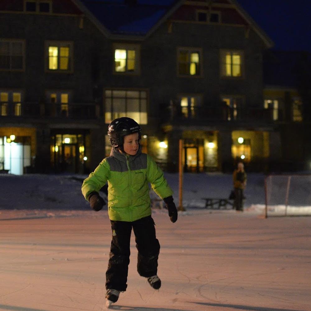 skating at Calabogie - Ontario getaways