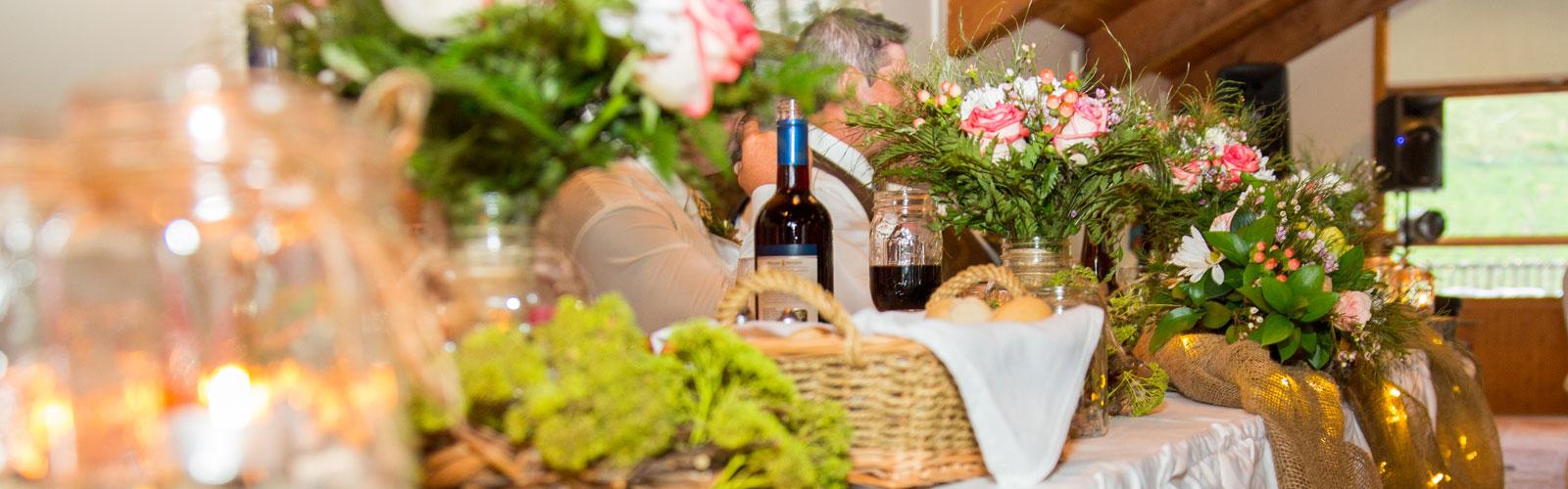 A la carte wedding menus Ontario wedding at the Peaks menu