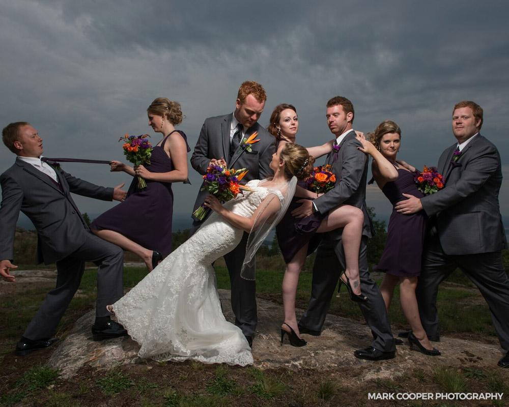 Outdoor wedding venues Ontario - wedding mountain top venue