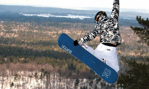 snowboarding activities at the Peaks