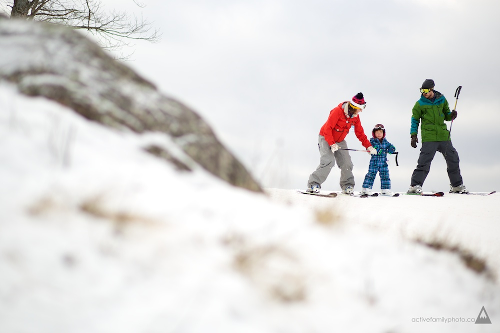 Rob Whelan and his Ski Family at the Calabogie Peaks Resort -family winter sports