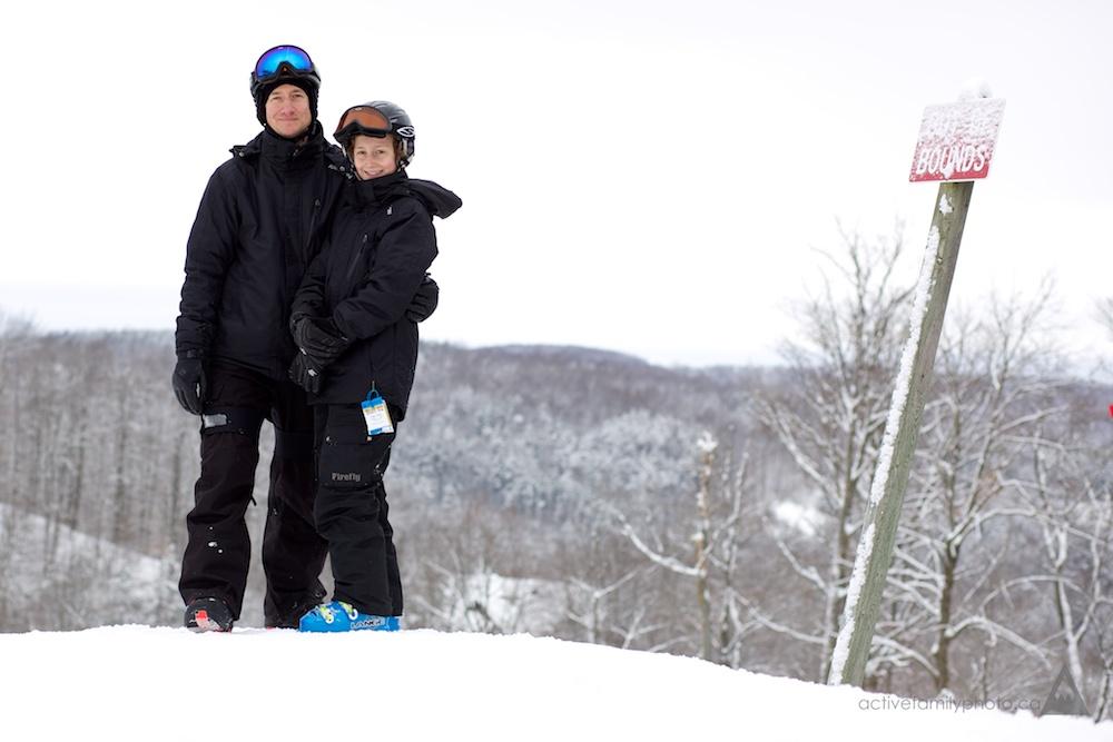 Rob Whelan and his Ski Family at the Calabogie Peaks Resort - building memories