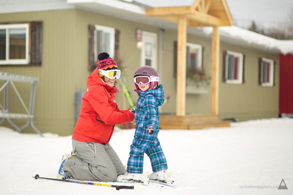 Ski family at the Peaks