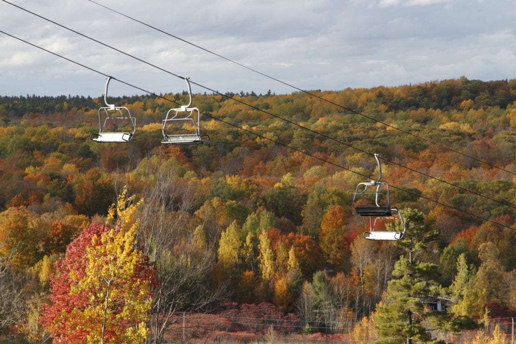 Fall Colours Chairlift Rides at the Peaks