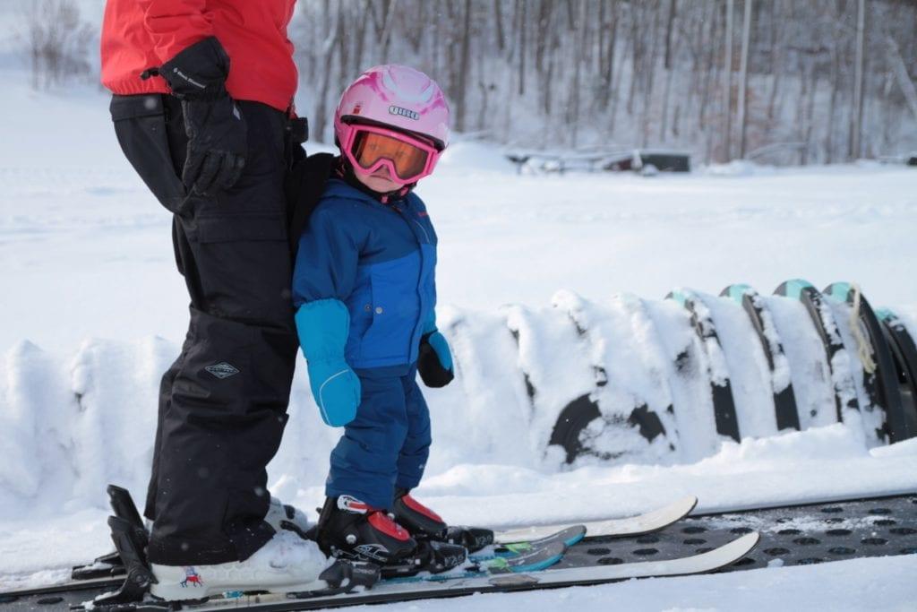 Kids Skiing at the Peaks