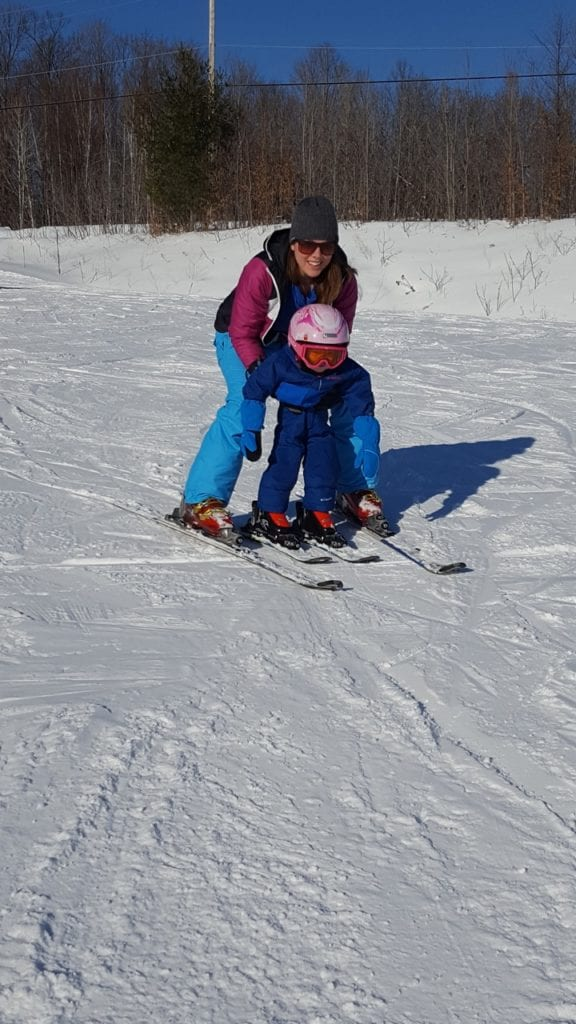 Family Skiing at the Peaks